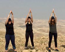 Yoga Pose on Masada
